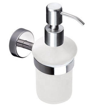 Wall Mounted Bathroom Accessories Glass Liquid Soap Dispenser