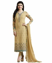 2017 Party Wear Prachi Desai Salwar Kameez / Ladies Ceremony Wear Straight Cut Suits (Ramzan Eid Collection 2017)(salwar kameez)