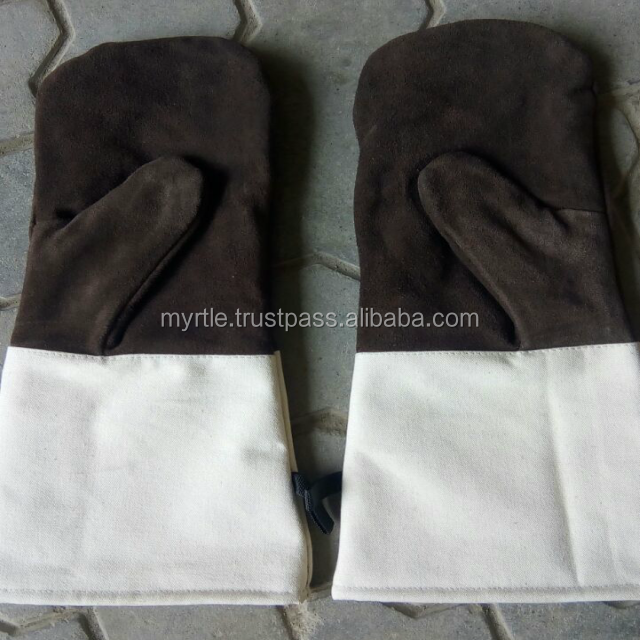 Heat Resistant Double Layer Cotton fleece Cloth inner ,Safety Working mittens/oven gloves