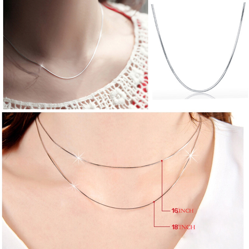 ABESTE Wholesale Fashion Jewelry 925 Sterling Silver Snake chains for Necklace Classic Style