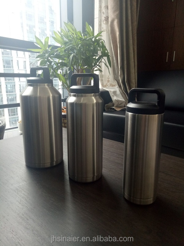 High Quality 18OZ/36OZ/64OZ Double Wall Stainless Steel Insulated Copper Travel Pot/ Thermal Water Pot