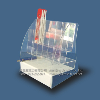 Clear acrylic display drawing pen lead display stand organizer stand