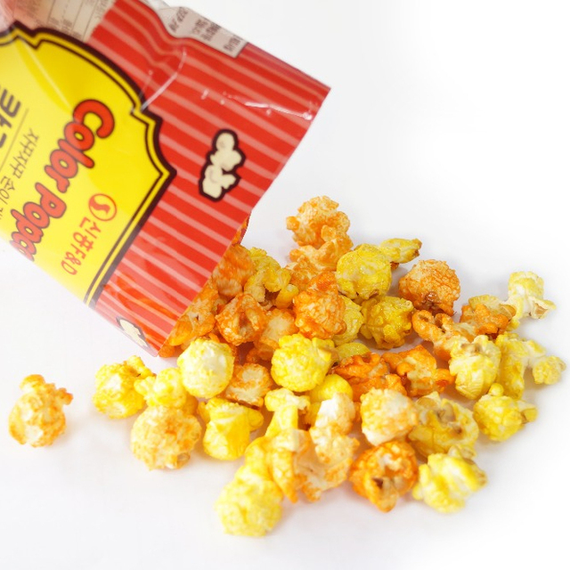 Flavored 40g Color Popcorn Korea Snack made with fresh and healthy Corn
