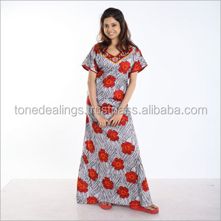 High quality women cotton night wear