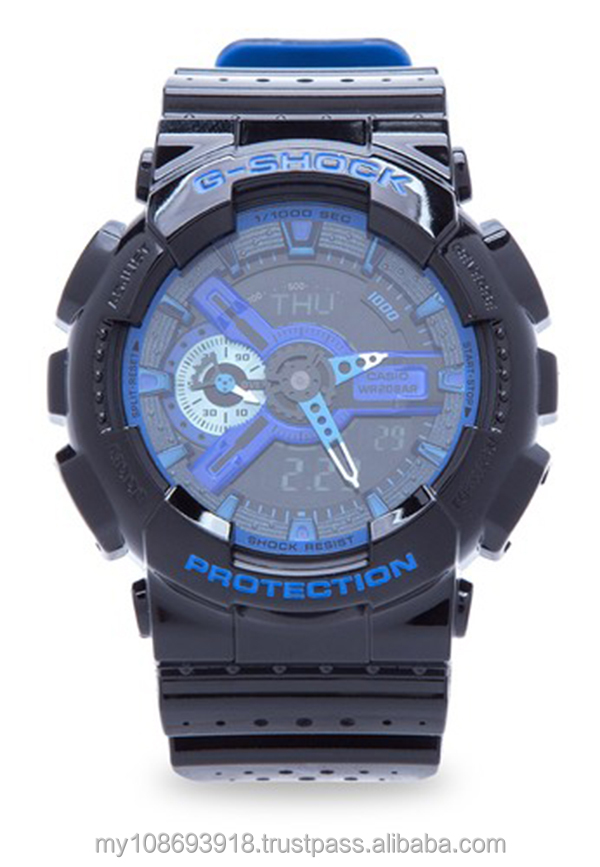 GA-110LPA-1A Blue Punching Pattern Series Mens Watch