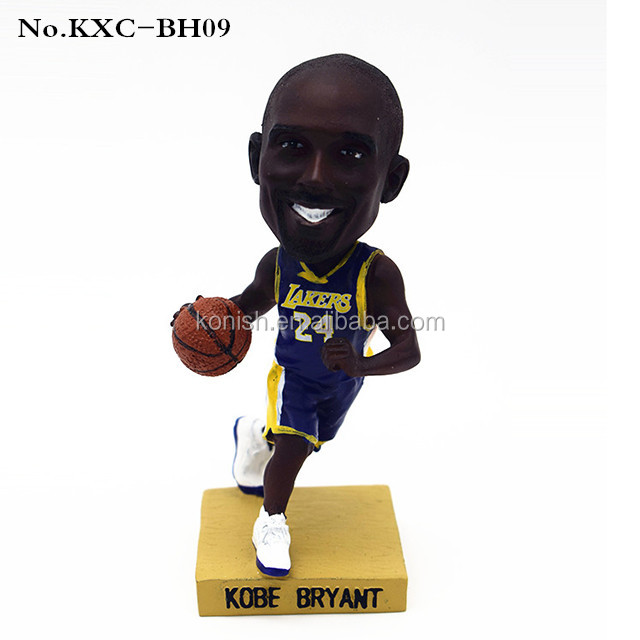 Custom Sports Basketball Player Kobe Bryant Bobblehead Resin Arts