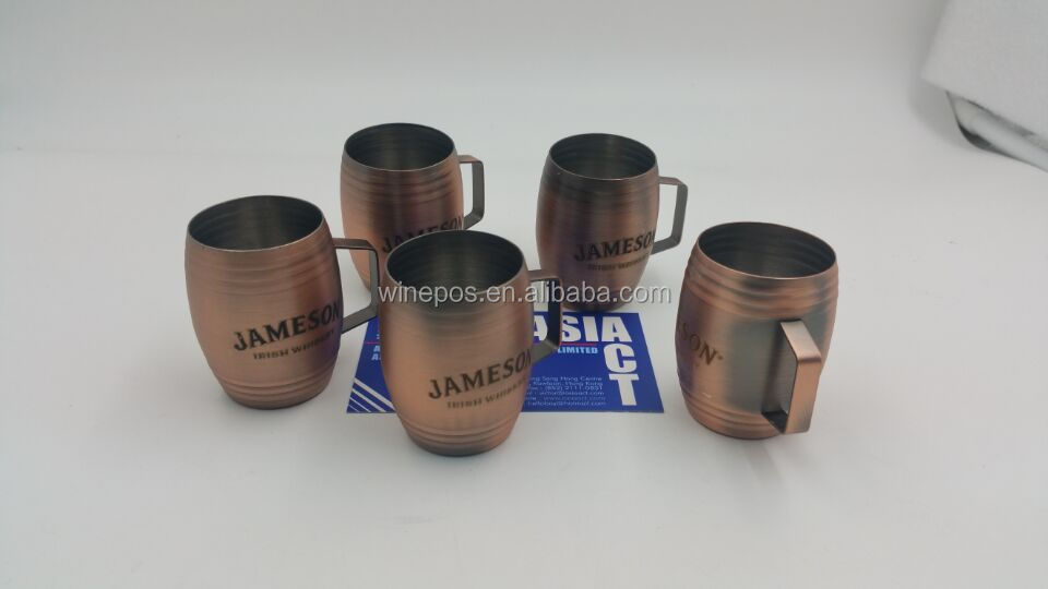 jameson shot glass, stainless shot glass, jameson shot glass