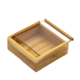 Natural Unfinished Wooden Box with Sliding Lid