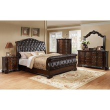 Classic King Size Bedroom Set / European Style hot sell royal luxury bedroom furniture BRF - 015