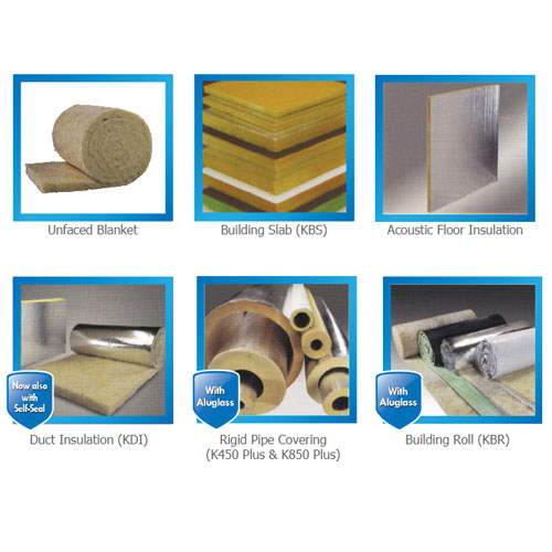 KIMMCO Yellow Fiberglass Wool Insulation for Construction