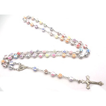 Holy religious Rosary 8mm plastic beads with cross