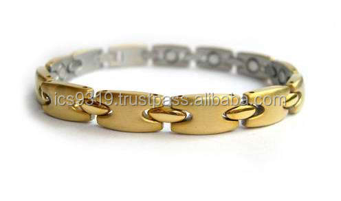 bio fusion excel energy stainless steel bracelet