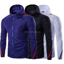 Water & Wind proof Rain jacket custom printed logo on men rain jacket