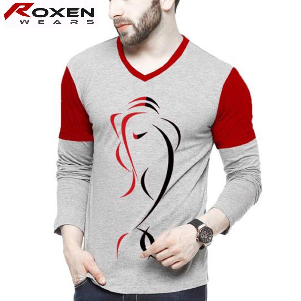 Latest Design 100% Cotton Summer Shirts for Men Pictures Round Neck