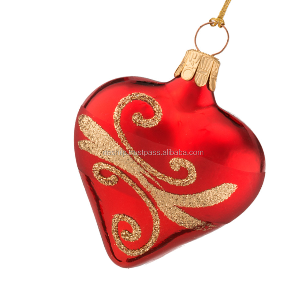Romantic Heart Shape Christmas hanging Ornaments