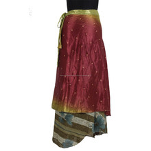 Cool And Comfortable Summer Wear Silk Skirt Wrap Around Skirt Sarong Style Skirt