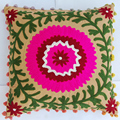 Wholesale embroidered pillow cases handmade indian suzani outdoor cushion cover