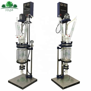 Laboratory 1L 2L 3L 5L Jacketed Glass Reactor with borosilicate glass 3.3