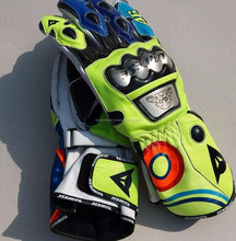 Lionstar Latest Rossi VR46 Motorbike Motorcycle Racing Leather Gloves with CE Approved Armors