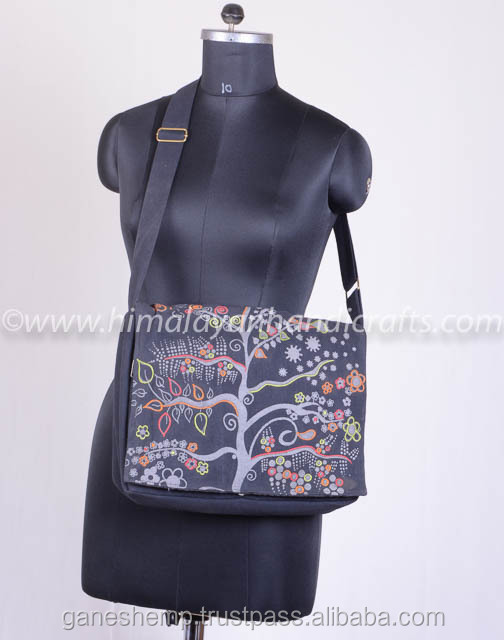 Fashionable Tree Print Crossbody Flap over Purse with Adjustable Shoulder Strap RSMB-0517-A