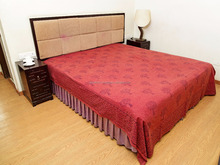 Indian Latest Tree Block Printed Cotton Bedding Maroon Bed Cover Shibori Throw Bedspread