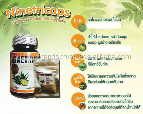 Ninetricaps Healthy Natural Herbal Weight Loss Dietary Supplement