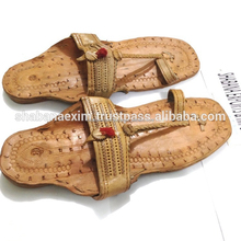 Leather Shoes High quality KOLHAPURI style chappal Flat slippers