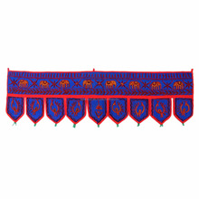 Indian Handmade Door Hanging Bohemian Window Scarves Cotton Toran gate Elephant Door Hangings