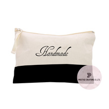 Personalized Cotton Cosmetic Bag From Thailand With Zipper & Logo Print
