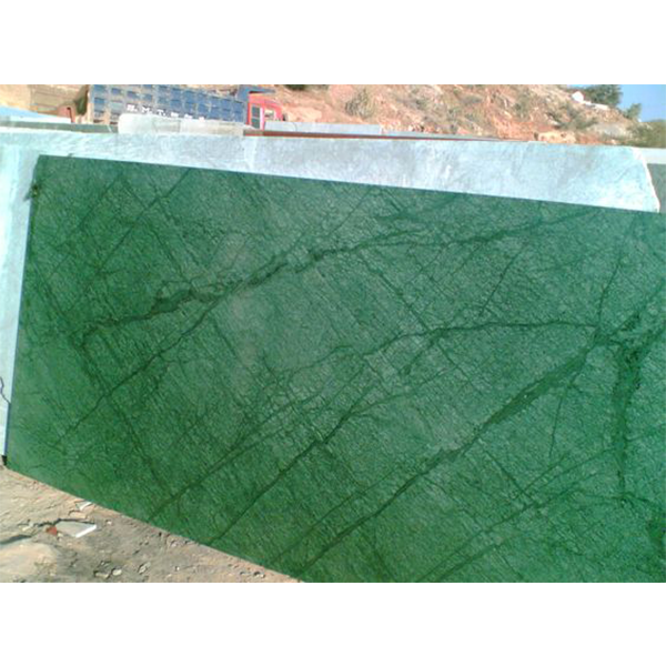 Rajasthan Verde Guatemala Green Marble Tiles Vanity Top and Kitchen Counter Top