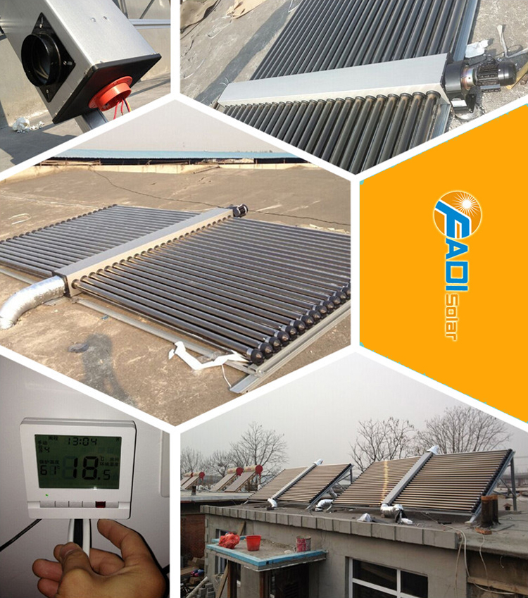 90w low pressurized space heating solar collector