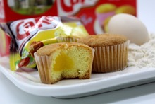 Delicious soft egg cup cake