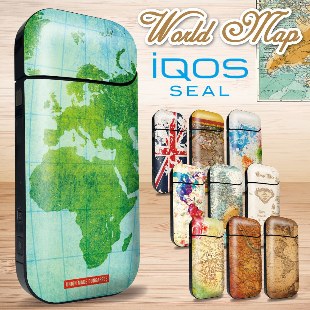 Cool world map IQOS skin sticker
