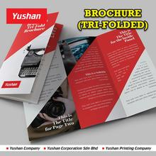High Quality Digital Printing Tri-Folded Flyer/Brochure/Catalog Printing at Low Price, full Customized and No MOQ