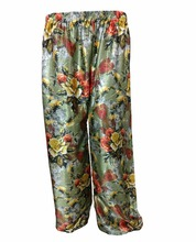 Regular Fit Floral Printed Palazzo Pants / Women's Party Wear Trousers 2017 (beach wear palazzo trousers pant)