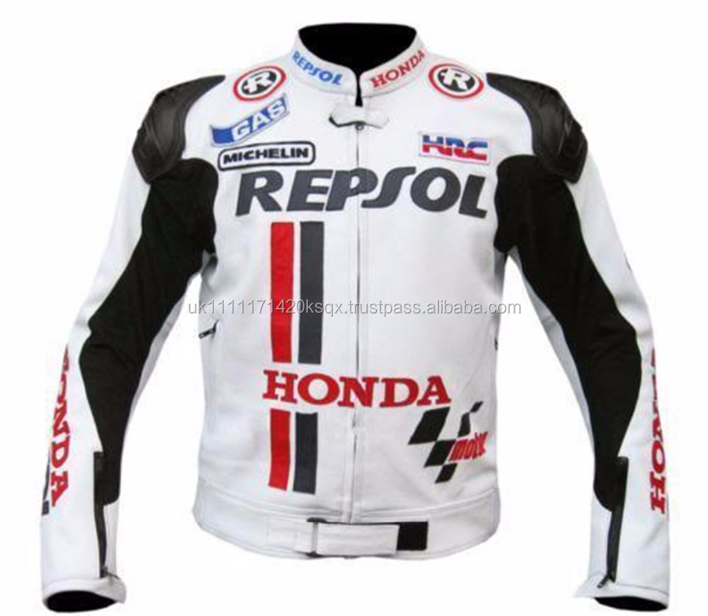 Gents, Mens Genuine Leather Motorbike jacket -Repsol Honda Motorbike Leather Jacket