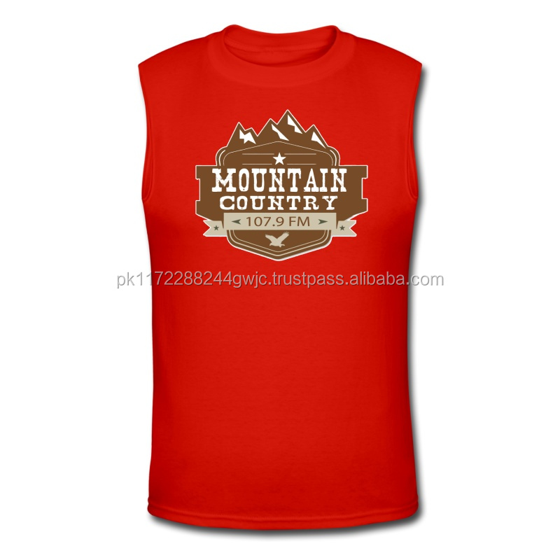 OEM custom made cheap mens sleeveless t shirts 100% cotton/Wholesale stylish men sleeveless t-shirt cheap in bulk low price