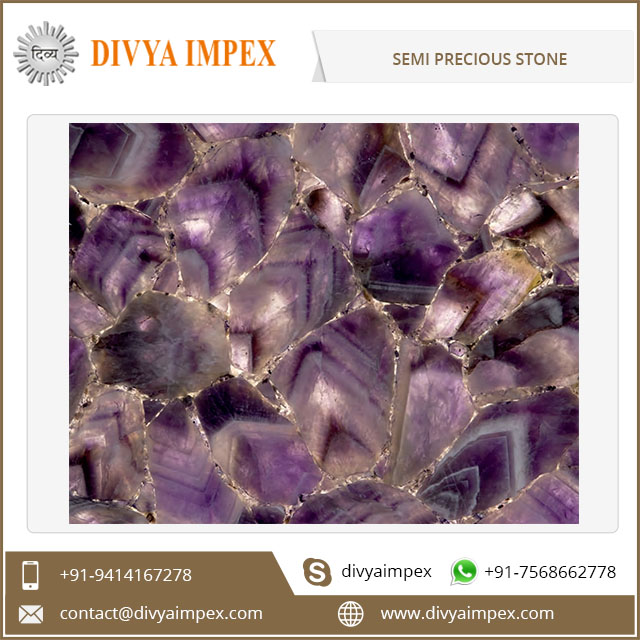 2017 Hot Sell Factory Price Decorative Semiprecious Stone