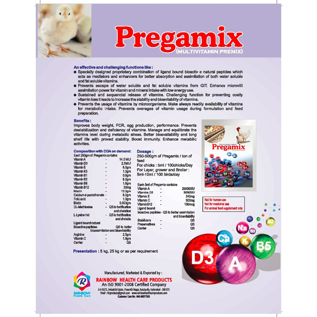 Vitamin Premix For Layer And Broilers