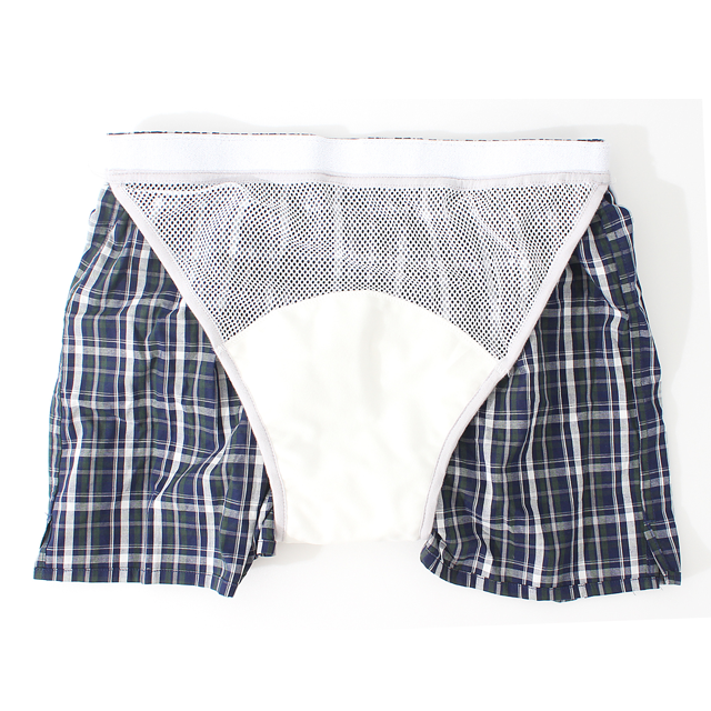 Men's Washable Briefs & Boxers for Urine Urinary Incontinence with Pad (80cc), Older (Elder) People Underwear