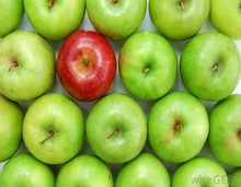 Fresh Green Delicious Apples