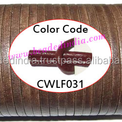 Leather Cords 2.5mm flat, regular color - tan brown. Weight: 550 grams. CWLF25031