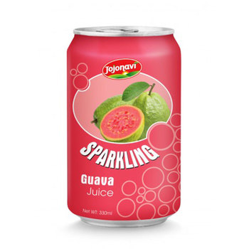 sparkling guava juice Fruit juice wholesaler in Aluminium can 330ml Sparkling water