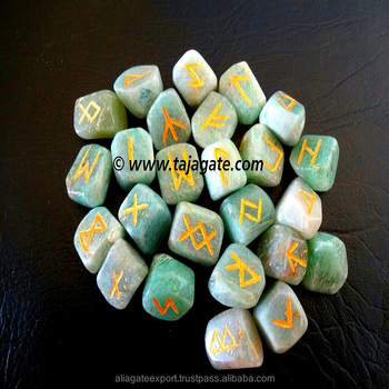 Green Aventurine Rune Sets New Age Metaphysical Stones
