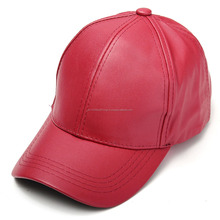 Mens Cowhide Leather Ajustable Baseball Cap