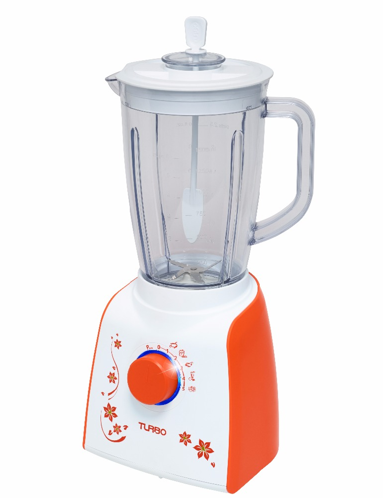 TURBO - POWERFUL BLENDER MOTOR WITH 5 STARS FOOD GRADE BLADE AND BIG CAPACITY JAR 2L