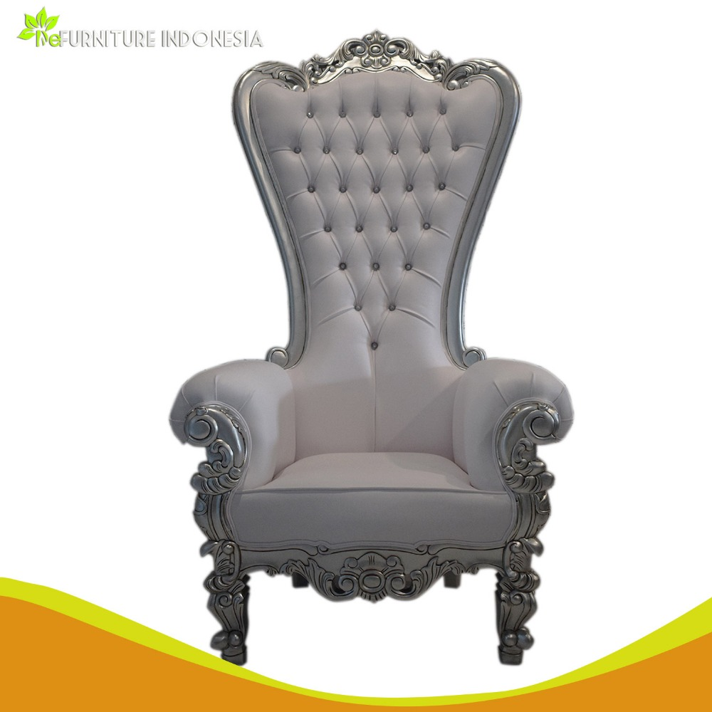 Superior Quality Classic Royal Furniture For King Queen Chair Carved With Handmade