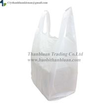 2017 HDPE, LDPE Cheapest Price T-shirt Plastic shopping bag for supermarket