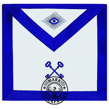 MASONIC LODGE MASTER MASON APRON EMBROIDERED (TREASURER)