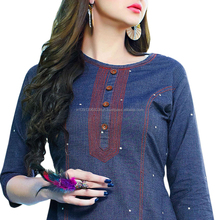 2017 new design manufacturer surat women cotton kurti